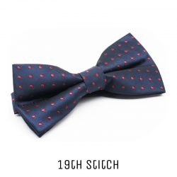 Blue Bow Tie with Red Polka Dot