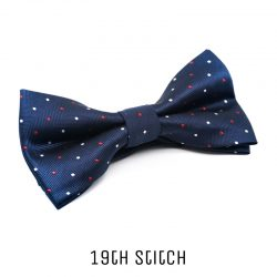 Blue Bow Tie with Red White Polka Dot