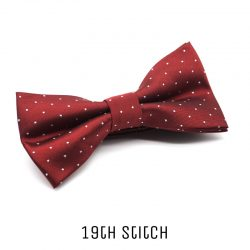 Red Bow Tie with White Polka Dot