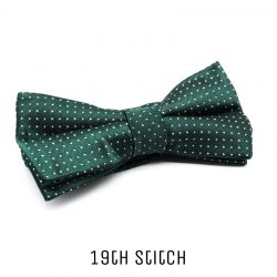 Green Bow Tie with White Polka Dot